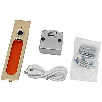 Keyless Fingerprint Lock Usb Rechargeable Electronic Drawer Anti-theft Security Cabinet Lock