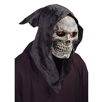 Skull Flexi Face Skeleton Grim Reaper Horror Day Of The Dead Mens Costume Mask