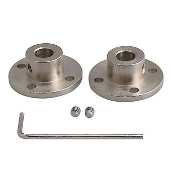 2PCS 8mm-16mm Steel Flange Couplings Shaft Motor Joints for DIY Parts