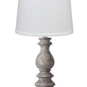 Distressed Look Grey Traditional Table Lamp with White Shade