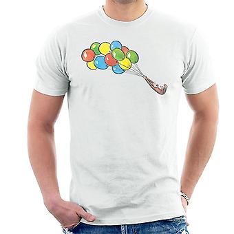 Utelias George Balloon Flying Backwards Men's T-paita