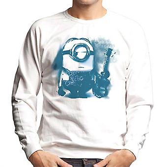 Despicable Me Stuart The Minion Guitar Art Men's Sweatshirt