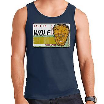 The Wolf Man Caution Extreme Danger Men's Vest
