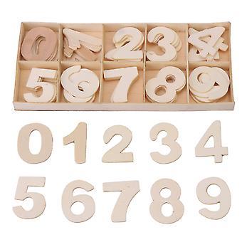 Arial Schrift Holz DIY Handwerk Zahlen mit Aufbewahrungsfach Kind Geschenk-Set von 60