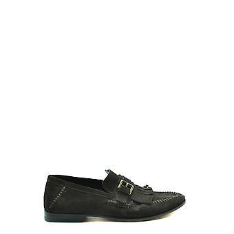 Santoni Ezbc023024 Men's Brown Suede Loafers