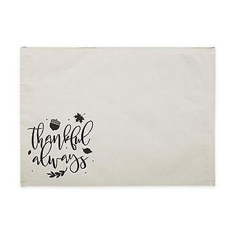 Thankful Always-cotton Canvas Place Mat