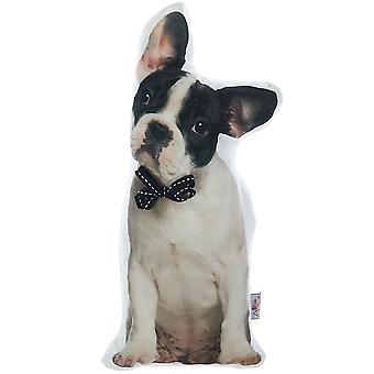 Boston Terrier Dog Shaped Filled Pillow