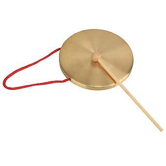 Kind spielen Percusses Requisiten Gonfalons 15,5 cm Durchmesser kleine Kupfer Hand Gong