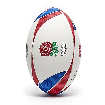 Gilbert England Supporter Rugby Union Team Rugby Ball White/Red/Blue