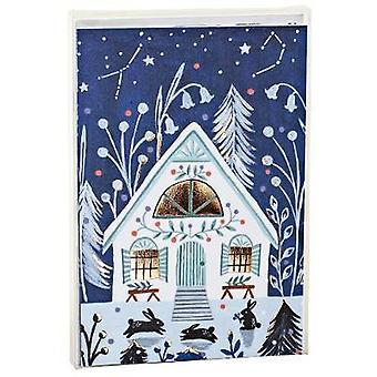 Cozy Winter Cabin Big Notecards