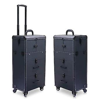 Grote capaciteit Trolley Cosmetische Case Rolling Bagage Tas / nagels Make-up Toolbox