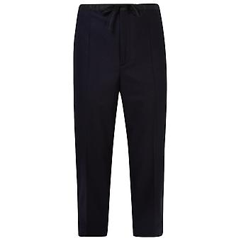 Jil Sander Jpur310750mr212500a402 Men's Black Wool Pants