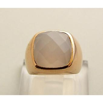 Rose gold agate ring
