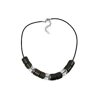 Collar Abalorios Transparencia 45cm