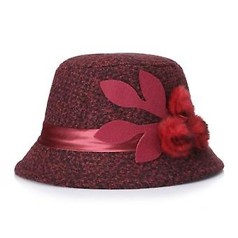 Elegant Party Ladies Fedoras Winter Warm Woolen Hat