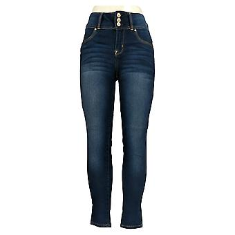 WallFlower Women's Jr Jeans Juniors Insta Soft High Rise Sassy Blue 68