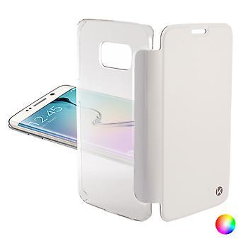 Folio Mobile Phone Case Samsung Galaxy S6 Edge KSIX Crystal/Gold