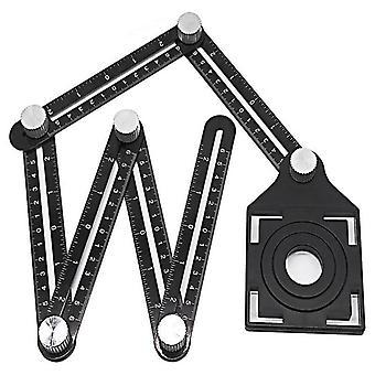 Righello di misura multiangolo, piegatura in alluminio, legno, piastrella, strumento di pavimentazione