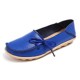 Summer Slipony Genuine Leather Slip On Ballet Bow Tie Ballet Flats Scarpe donna