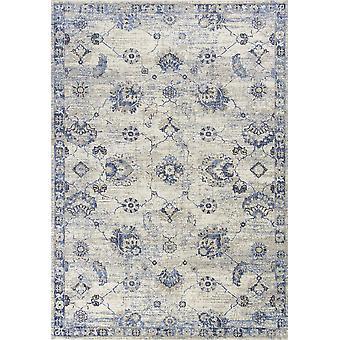 3' x 5' Polypropylen Grå eller Blå Areal tæppe