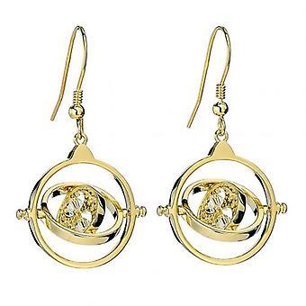 Harry Potter Gold Plaqué Swarovski Boucles d'oreilles Time Turner