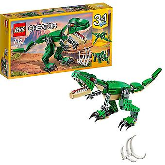 Lego 31058 luoja mahtava dinosaurus lelu, 3 in 1 malli, triceratops ja pterodactyl dinosaurus hahmoja,