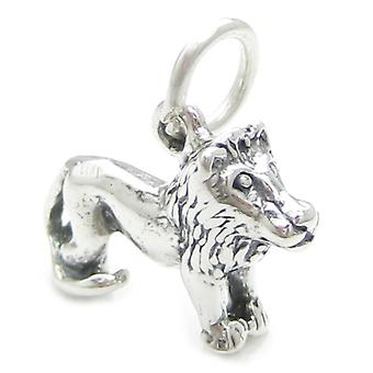 Lion Leo Sterling Silver Charm .925 X 1 Lions Zodiac Zodiacs Charms - 3718