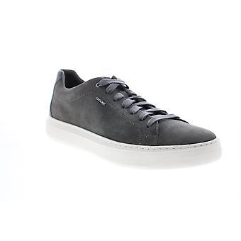 Geox U Deiven Herren Grau Wildleder Euro Sneakers Schuhe