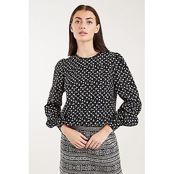 Louche Lima Marguerite Print Long Sleeve Blouse