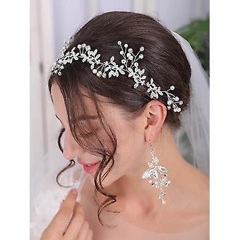 Fascia nastro da sposa in vite di cristallo di vite per capelli