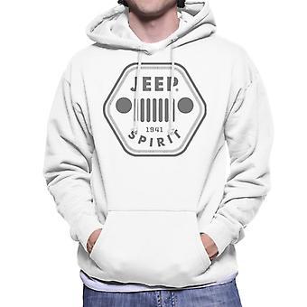 Jeep 1941 Spirit Logo Men's Hooded Sweatshirt