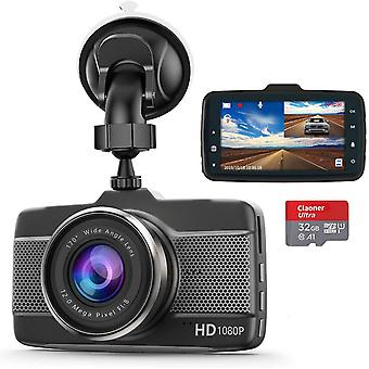 Dash Cams for Cars Front and Rear 1080P Full HD Dashcam