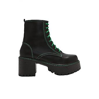Koi Footwear Laced & Stitched PU Ankle Boot