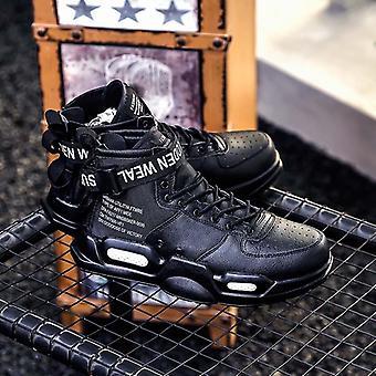 Herbst Pu Leder klassische High Top gedruckt Schuhe Schnalle Casual Stiefel