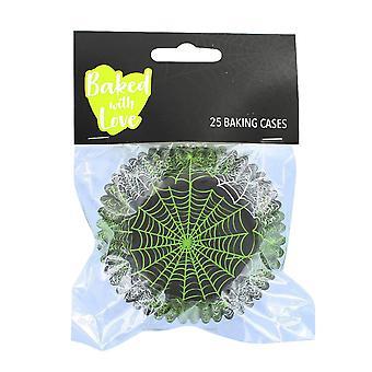 25 Folia Wyłożona Spiderweb Pieczenia Przypadkach - pojedynczy