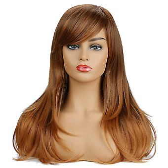 Brand Mall Wigs, Lace Wigs, Realistic Fluffy Brown Long Hair Wigs