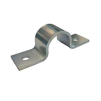 Rørsal klemme - Guide - 24 mm Id, 23 mm Ih, 25 X 3 mm stål (zp) sinkbelagt