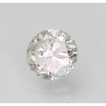 Sertifioitu 1,00 karat F SI2 pyöreä brilliant parannettu luonnollinen löysä timantti 6,04mm