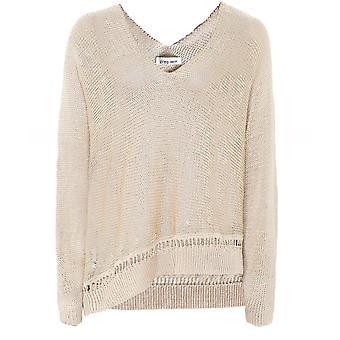 Crea Concept Linen Blend Knit Pullover
