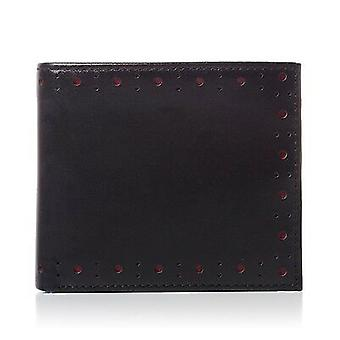 Fred Perry Punched Brogue Billfold & Coin Wallet Leather L7331-102
