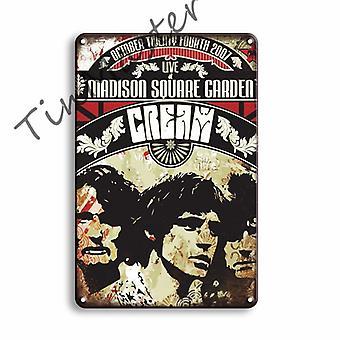 Rock N Roll Metal Poster, Tin Sign, Vintage Plate, Sign Bar, Decorative Plaque,