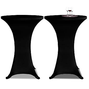 Standing Table Cover 70cm Black Stretch 2 Pcs