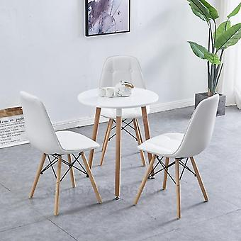 Accueil Balcon Nordic Small Round Coffee Table Reception And Chairs
