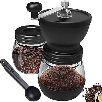 Coffee Grinders, Coffee Grinder Manual - Burr Coffee Grinder with Two Glass Jars  amp; Brush -