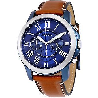 Fossil Grant cronografo in pelle Mens Watch FS5151