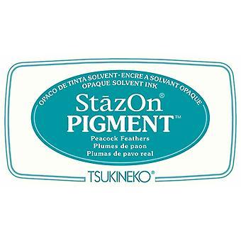 Stazon Pigment Mustetyynyn riikinkukon höyhenet
