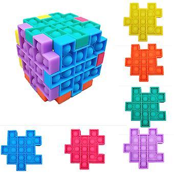 Sensory Fidget Toys 6 stuks vormen een Rubik's Cube stijl speelgoed Bundel Stress Relief Met Fidget Hand Toys