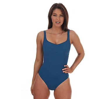 Costume da bagno Speedo Sculpture ContourLustre da donna in blu