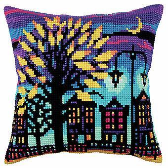 Collection d'Art Cross Stitch Kit: Cushion: Twilight