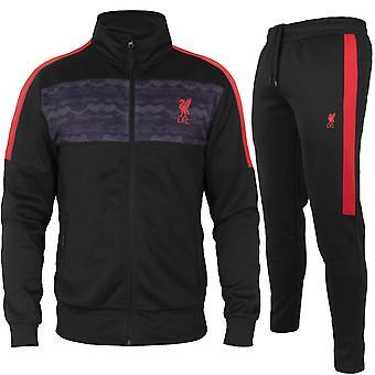 Liverpool FC Herren Trainingsanzug Poly Jacke & Hose Set OFFIZIELLE Fußball Geschenk